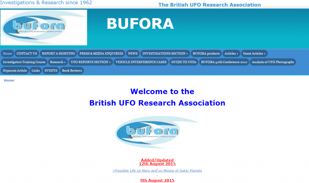 BUFORA Website