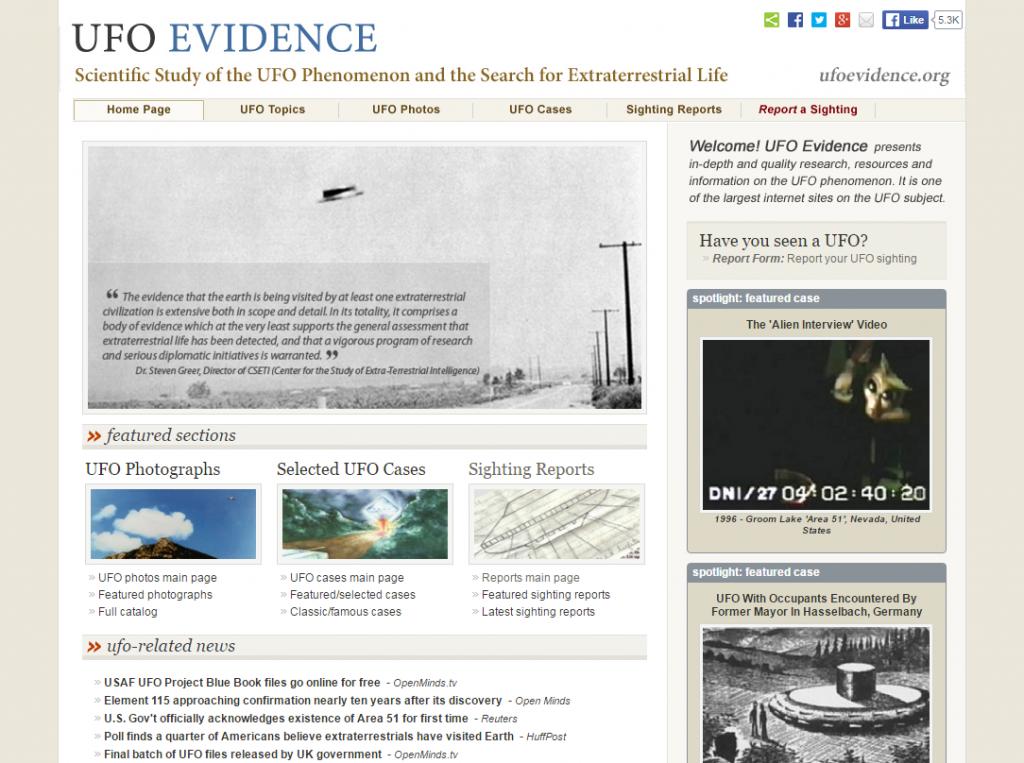 UFO Evidence Screenshot